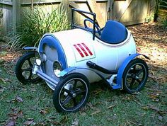 a pedal car that's a barrel of fun