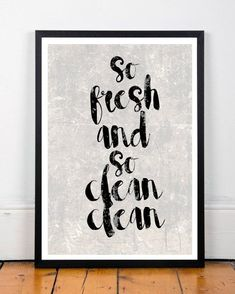 Bathroom Art, So Fresh And so Clean Clean, Art Print, Bathroom Wall Art, Printable Art, Instant Download, Wall Decor, Home Decor This is a digital