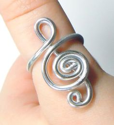 Treble Clef Adjustable Aluminum Ring by melissawoods on Etsy on Wanelo