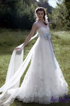 A Line Strapless Lace Papilio Wedding Dresses 2011 PWD193  $329.00