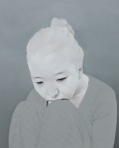 "Artist: Sungsoo Kim Paintings (oil, acrylics on canvas). ""Melancholy"""