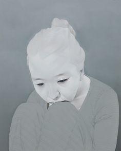 """Artist: Sungsoo Kim Paintings (oil, acrylics on canvas). """"Melancholy"""""""