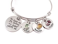 As Long As I'm Living My Baby You'll Be Bangle Bracelet - Bangle Bracelets - Bracelets at Sweet Blossom Gifts