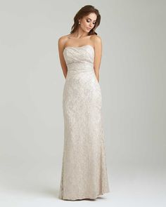 Champagne Lace Bridesmaid Dress 2017 Strapless Long Party Dresses Floor  Length Backless Bride Honor Dress for Weddings-in Bridesmaid Dresses from  Weddings ... 7fa620b7520f