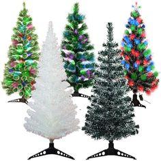 LED Weihnachtsbaum künstlicher Tannenbaum beleuchtet Fiberoptik Glasfaser