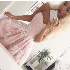Charming Prom Dress, Lace Prom Dresses, Sexy Evening