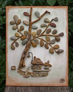Stone Art by Hungarian artist Timea Papp portrays adorable pictures that are made out of pebbles, wood pieces, and paints. Glass Art Pictures, Pebble Pictures, Stone Pictures, Stone Crafts, Rock Crafts, Arts And Crafts, Pebble Art Family, Weekend Crafts, Rock And Pebbles