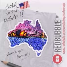 thanks to the buyers of my 'Sydney Harbour' sticker design throughout 22 states of the USA.Big thanks for visiting my Redbubble webstore! Red Bubble Stickers, Australia Living, Canvas Prints, Art Prints, Art Boards, Sydney, Finding Yourself, Paintings, Sticker Designs