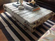 Vintage Industrial RailRoad Cart Coffee table  - $500