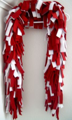Wisconsin Badgers Cardinal Red & White Fleece by PreciousPeddler, $14.95