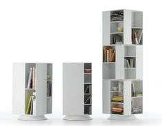 Box stackable swivel units by by MDF Italia