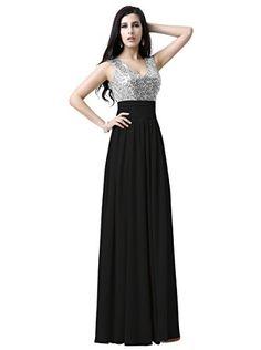Belle House Sequins Black Chiffon Long Prom Dress Party Gown HSD125BK Belle House http://www.amazon.com/dp/B017VUAX2G/ref=cm_sw_r_pi_dp_oYbDwb0YTR205