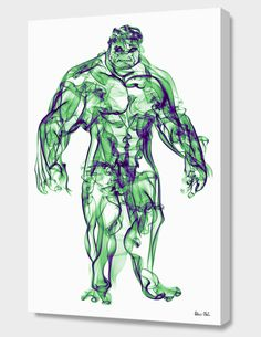 """Hulk"", Numbered Edition Canvas Print by Octavian Mielu - From $89.00 - Curioos"