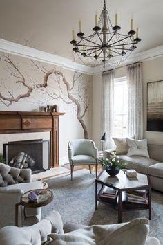 The living room, by Annette Hannon Interior Design, Ltd.