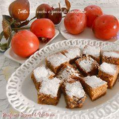 Torta con cachi e gocce di cioccolato ricetta