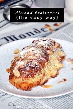 Almond Croissants (the easy way). Almond croissants are the ultimate sweet breakfast for lazy days. Ready in no time, they come out fresh from the oven directly to your table. Almond Croissant, Croissant Recipe, Sweet Breakfast, Breakfast Dishes, Breakfast Croissant, Just Desserts, Dessert Recipes, Almond Pastry, Puff Pastry Recipes