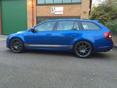 New alloys to go with lowering springs - posted in Skoda Octavia III (2013 onward): New alloys fitted today. Looks brilliant now with the Eibach lowering 25mm springs from last week, sits really well, less like an all road Sorry its not been cleaned yet, been a bit busy and weather has been rubbish.