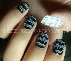 music notes nails (konad)
