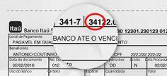 Foto de um boleto contendo o código do Banco Itaú (341)