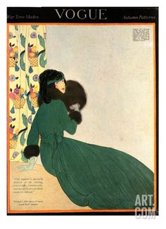 Vogue Cover - October 1918 Regular Giclee Print by Helen Dryden at Art.com