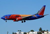 Southwest Airlines, Boeing 737-7H4, San Diego - International / Lindbergh Field, California, August 13, 2010, N224WN, The former NBA One in all its glory.  The aircraft has since been repainted in standard Soutwest colors.