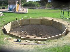 Great how to article for building an in ground trampoline frame