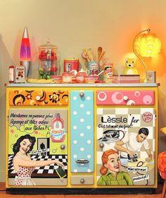 MamZelle Térébenthine peintre en décors relooking de meubles (idée ronds sympa)