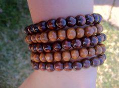 Men's Wood Bracelets Set of 5 by MenCord on Etsy, $25.00
