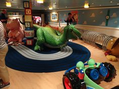 Andy's Room onboard the Disney Fantasy (and Dream) cruise ship. My kids are excited to see this room- but I'm kinda more excited!
