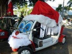VIP Realty CHV Christmas golf cart