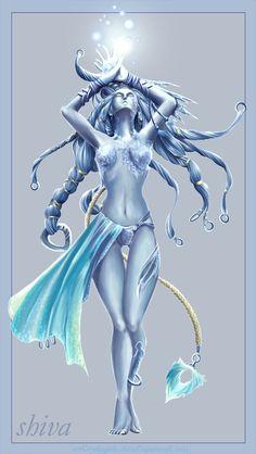 Fan Art of Shiva for fans of Final Fantasy.