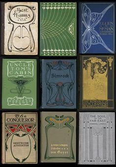 art nouveau book covers - publishers bindings online, university of wisconsin
