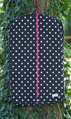 MADE TO ORDER Polka Dot Hanging Garment Bag Many by PaddedPonies