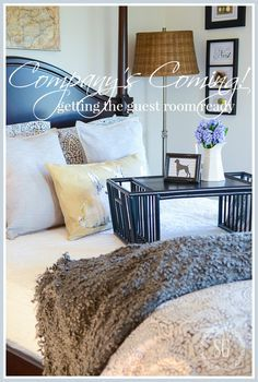 Getting the guest room ready. Morning Habits, Transitional Decor, Cozy Cottage, Signs, Decorating Tips, Decorating Bedrooms, Bed And Breakfast, Guest Rooms, Furniture