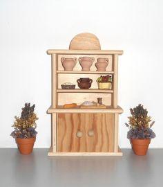 Mobile rosa in miniatura armadio da cucina per bambole credenza in miniatura mobile per - Bagno in miniatura ...