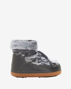 #INTERMIX #SWEEPSTAKES IKKII Leather and Fur Moon Bootie: Lush shearling lining and ultra-luxe fur and leather make these boots the ultimate in cozy chic. Rubber sole. Lambskin upper and lining. In grey. Fabric: Oryctolagus ciniculus forma domestica (Pieced); Origin ...