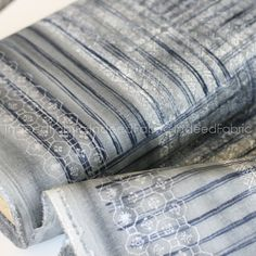 DOUBLE GAUZE Navy Ori Some Nani IRO Japanese Fabric Double
