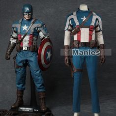 Captain America The First Avenger Steven Rogers Men Cosplay Costume Garment Set Captain America Series, Captain America Cosplay, Cool Costumes, Adult Costumes, Cosplay Costumes, Male Cosplay, Best Cosplay, Steven Rogers, Superhero Suits