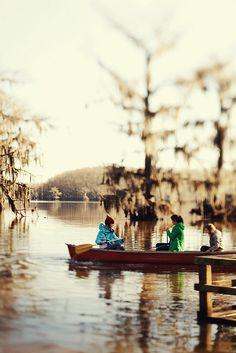 Caddo Lake New Year #canoe #winter #caddo lake #home made lens # tilt shift
