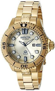 Invicta Womens 19820 Pro Diver Analog Display Swiss Quartz Gold Watch * See this great product. (This is an affiliate link) Stainless Steel Watch, Stainless Steel Bracelet, Womens Day Date, Gold Top, Quartz Watch, Gold Watch, Bracelet Watch, Display, Image Link