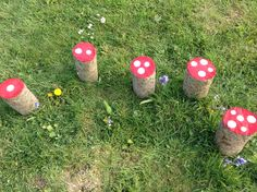 Painted Toadstools. Early Years counting activity.