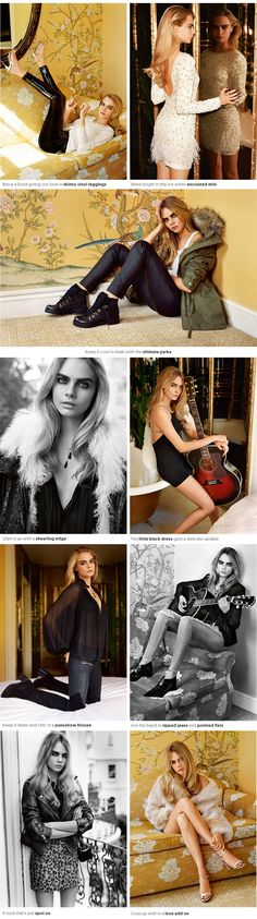 Cara Delevingne is featured in the new Topshop campaign and the photos are too beautiful
