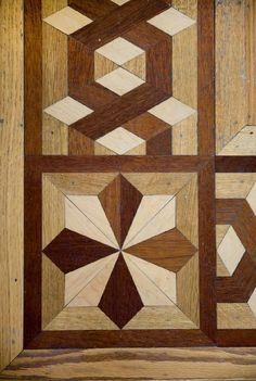 Photos: Josh Hartnett's Minnesota refuge.  A detail shot of the parquetry in the floor.