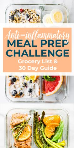 Our 10 day, anti-inflammatory diet meal prep recipes challenge can help reset and heal your body of inflammation. Use our easy meal prep recipes to help! Diet Food To Lose Weight, Weight Loss Meals, Clean Eating Recipes For Weight Loss, Clean Eating Meal Plan, Losing Weight, Healthy Meal Prep, Healthy Eating, Healthy Recipes, Gout Recipes