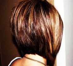 a line stacked bob haircut pictures - Bing Images Short Stacked Haircuts, Stacked Bob Hairstyles, Short Bob Haircuts, Short Hair Cuts, Short Hair Styles, Short Bangs, Stacked Inverted Bob, Bobbed Haircuts, Aline Haircuts