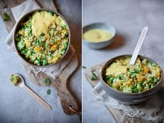 Curry-Quinoa Salat mit Erbsen