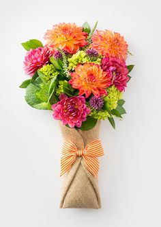Perfect flower bouquets, delivered free via bicycle.