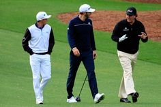 (From left to right) Rickie Fowler, Dustin Johnson and Phil Mickelson. Courtesy of Devil Ball Golf