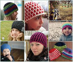 The Chameleon Beanie lives up to its name with the ability to change its look with a simple switch of colour. I have included photos and instruction of four different looks you can achieve.