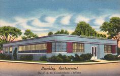 Vintage Postcard Buckleys Restaurant by TBTooVintagePhotos on Etsy